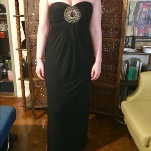 Sky Strapless Black Dress